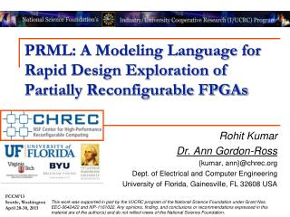 PRML: A Modeling Language for Rapid Design Exploration of Partially Reconfigurable FPGAs