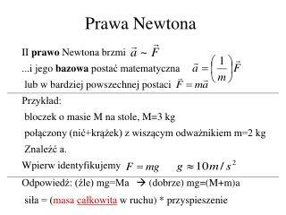 Prawa Newtona