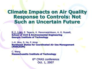 Climate Impacts on Air Quality Response to Controls: Not Such an Uncertain Future