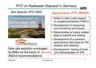 Site Specific RTD (BfS)