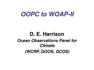 OOPC to WOAP-II