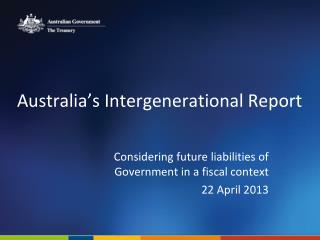 Australia's Intergenerational Report