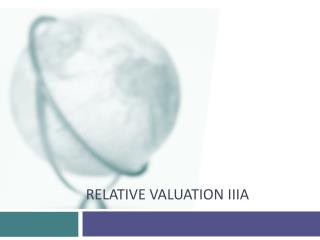 Relative Valuation  IIIa