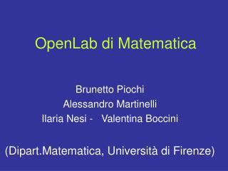 OpenLab di Matematica