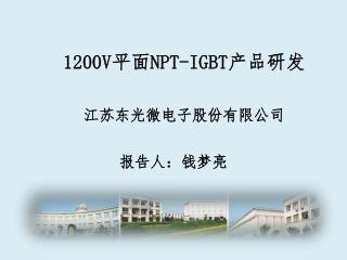 1200V 平面 NPT-IGBT 产品研发
