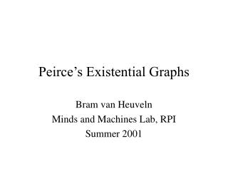 Peirce's Existential Graphs