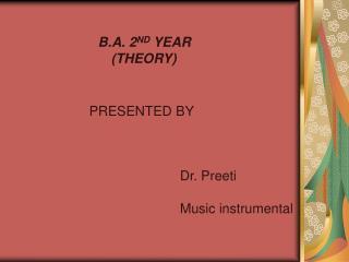 B.A. 2 ND  YEAR     (THEORY)