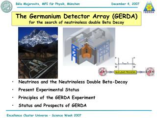 The Germanium Detector Array (GERDA)  for the search of neutrinoless double Beta Decay