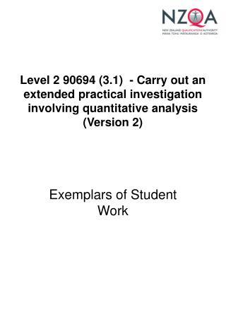 Exemplars of Student Work