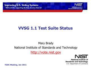 VVSG 1.1 Test Suite Status