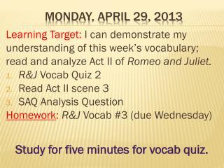 Monday, April 29, 2013