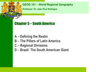 Chapter 5   South America
