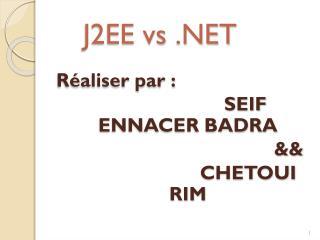 J2EE vs .NET