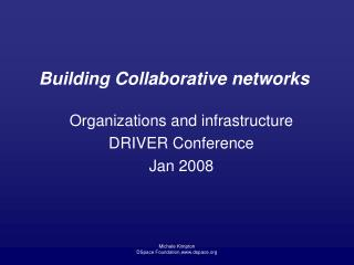 Building Collaborative networks