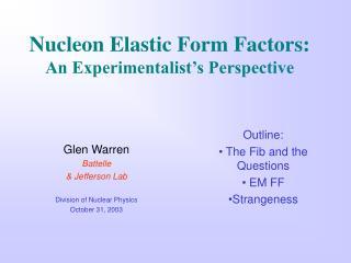 Nucleon Elastic Form Factors:  An Experimentalist's Perspective