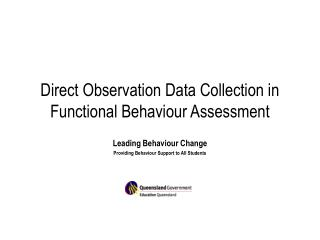 Direct Observation Data Collection in Functional Behaviour Assessment