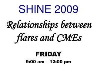 Relationships between  flares and CMEs
