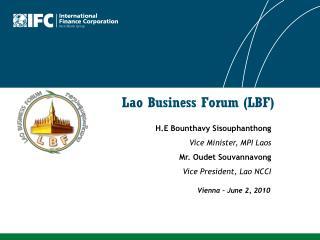 Lao Business Forum LBF