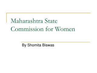 Maharashtra State Commission for Women