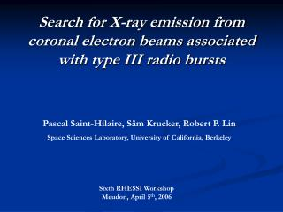 Search for X-ray emission from coronal electron beams associated with type III radio bursts