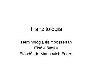 Tranzitológia
