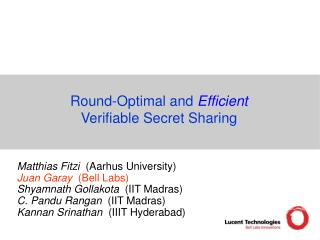 Round-Optimal and  Efficient Verifiable Secret Sharing