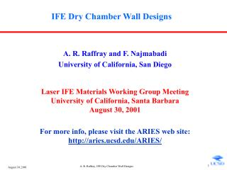 IFE Dry Chamber Wall Designs