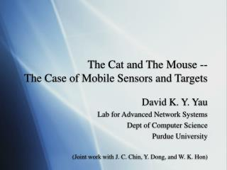 The Cat and The Mouse -- The Case of Mobile Sensors and Targets