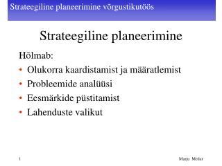 Strateegiline planeerimine