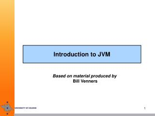 Introduction to JVM