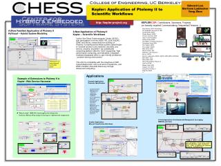 Kepler: Application of Ptolemy II to Scientific Workflows
