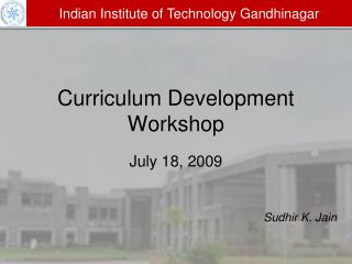 Curriculum Development Workshop
