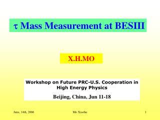  Mass Measurement  at BESIII