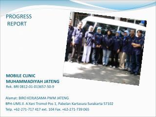 MOBILE CLINIC MUHAMMADIYAH JATENG Rek. BRI 0812-01-013657-50-9