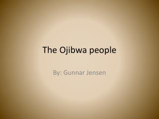 The Ojibwa people