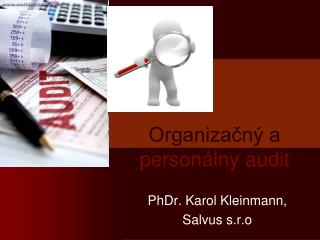 Organizačný a  personálny audit