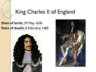 King Charles II of England