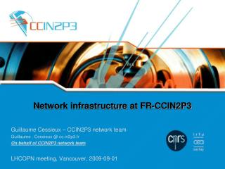 Network infrastructure  at  FR-CCIN2P3