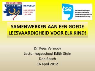 Samenwerken aan een goede leesvaardigheid voor elk kind!
