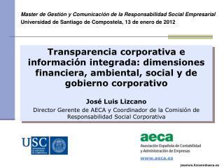 Master de Gesti�n y Comunicaci�n de la Responsabilidad Social Empresarial