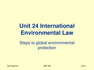 Unit 24 International Environmental Law