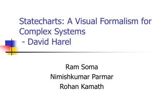 Statecharts: A Visual Formalism for Complex Systems  - David Harel