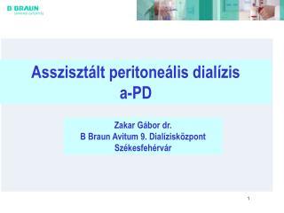 Asszisztált peritoneális dialízis a-PD