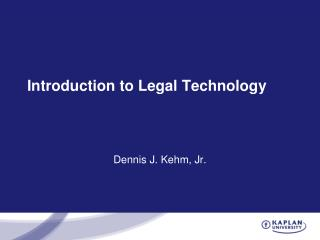 Introduction to Legal Technology