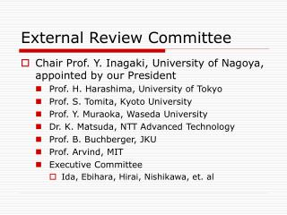 External Review Committee
