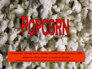 Popcorn Tactile Symbol Writing Activity