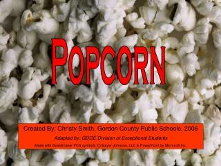 Popcorn Tactile Symbol Writing Activity
