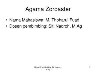 Agama Zoroaster