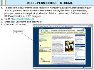 KECI – PERMISSIONS TUTORIAL
