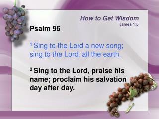 How to Get Wisdom James 1:5